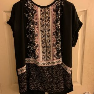 Back button down tunic